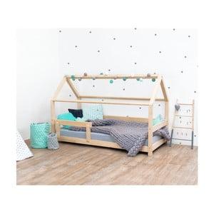 Prírodná detská posteľ zo smrekového dreva s bočnicami Benlemi Tery, 90×200 cm