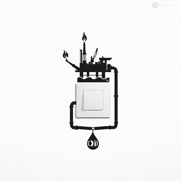 Samolepka Oil Spill