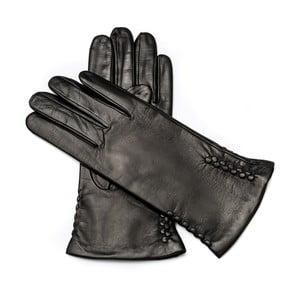 Dámske čierne kožené rukavice Pride & Dignity Berlin, veľ. 8