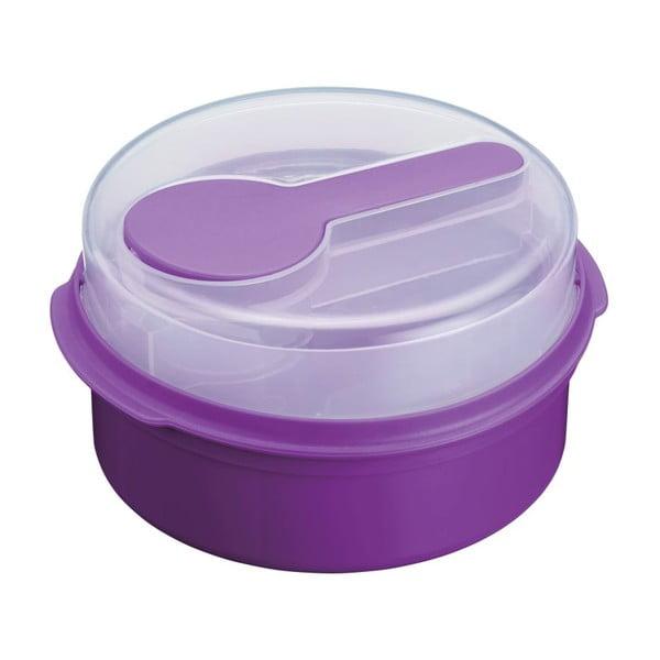 Fialový desiatový box Kitchen Craft Coolmovers Round