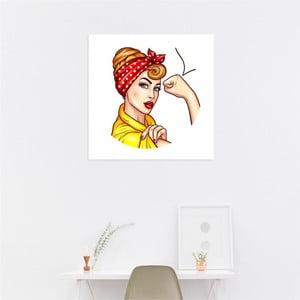 Nástenný samolepiaci obraz North Carolina Scandinavian Home Decors Girl V11, 30×30 cm