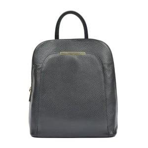 Čierny kožený batoh Renata Corsi Masmina