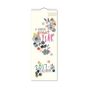Úzký kalendár Portico Designs Wild Flowers