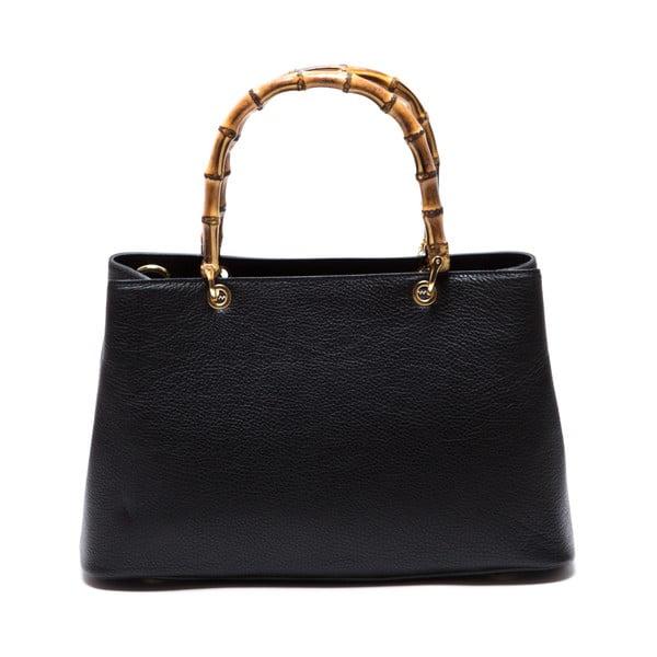 Kožená kabelka Cerla, čierna
