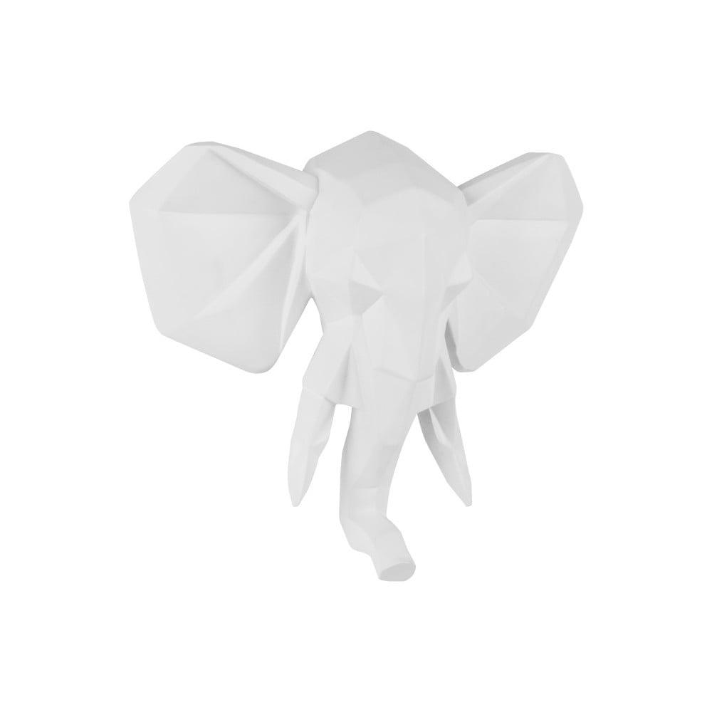 Matne biely nástenný vešiak PT LIVING Origami Elephant