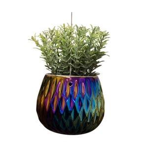 Závesný kvetináč s farebnými odleskami Lund London Orbit Rhombus