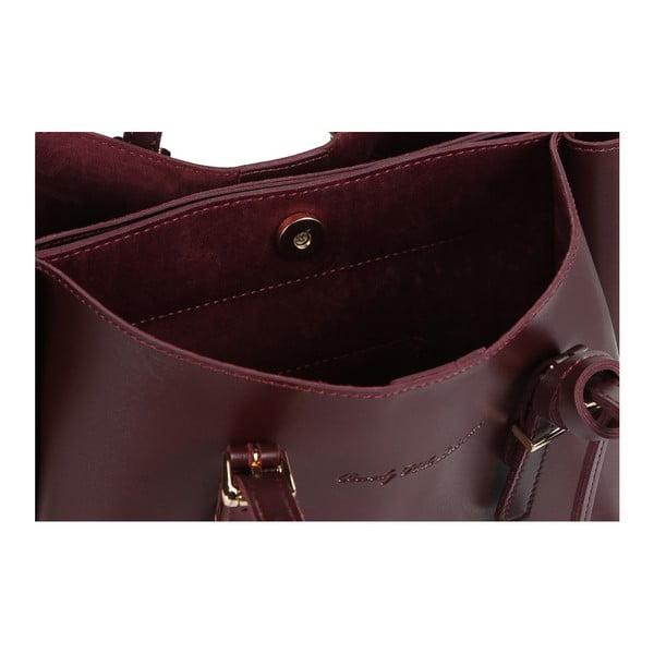 Tmavočervená kabelka z eko kože Beverly Hills Polo Club Alicia