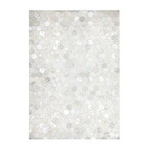 Koberec z pravej kože Dazzle 400 Light, 80x150 cm