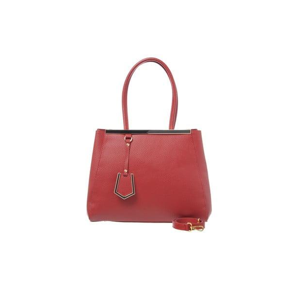 Kožená kabelka Como Red