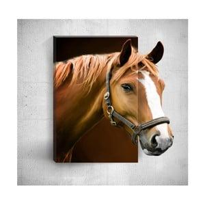Nástenný 3D obraz Mosticx Horse, 40×60 cm