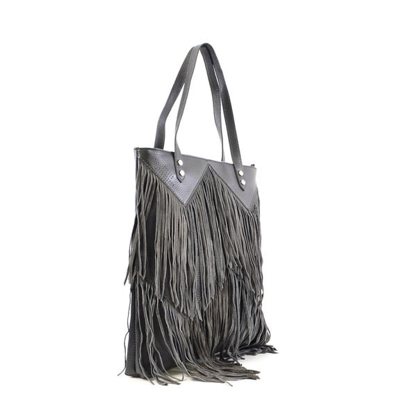 Kožená kabelka Michelle, sivá