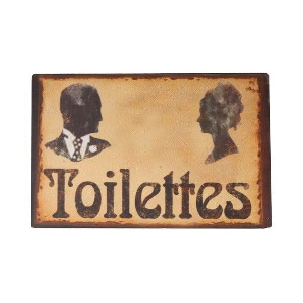 Ceduľka na WC Toilettes