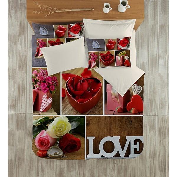 Obliečky s plachtou Love Me, 200x220 cm