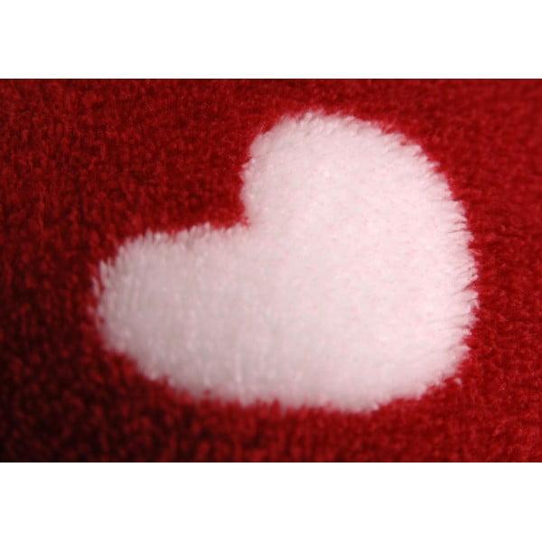 Deka Burgundy Heart, 170x130 cm