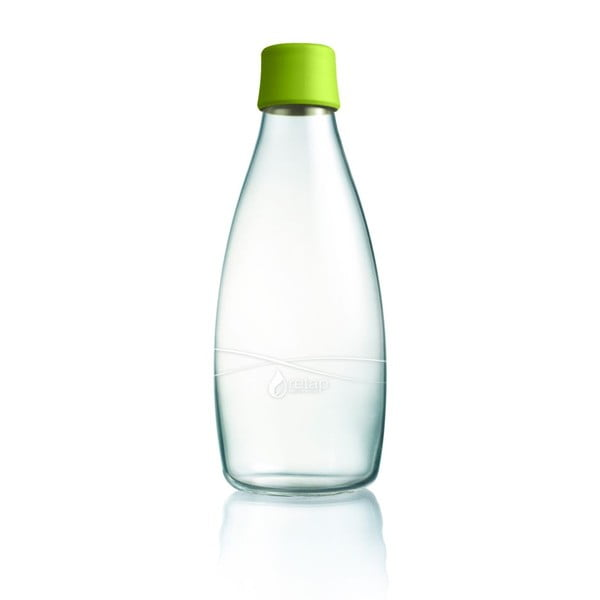 Zelená sklenená fľaša ReTap s doživotnou zárukou, 800 ml