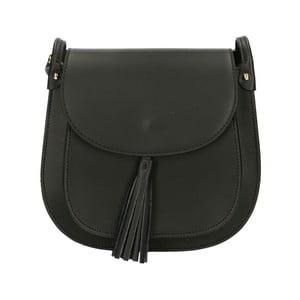 Čierna kožená kabelka Roberto Buono Kara