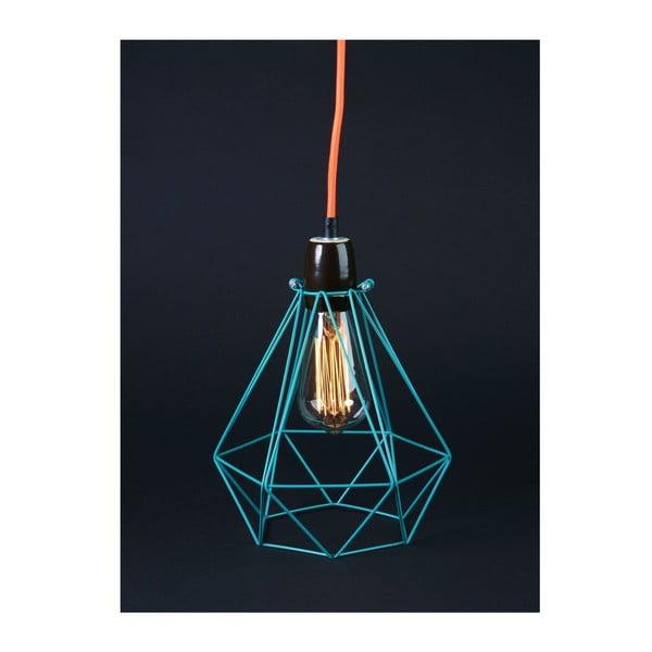 Svetlo s modrým tienidlom a oranžovým káblom Filament Style Diamond #1