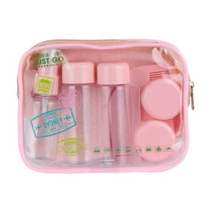 Cestovný ružový mini set na kozmetiku Le Studio Avion Rose