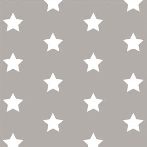 Sivé obrúsky Clayre & Eef Xmas Star, 20ks