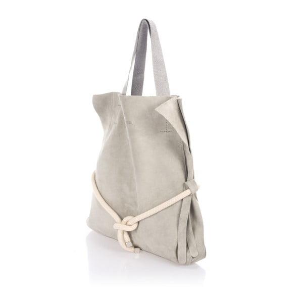 Sivá kožená kabelka Giulia Massari Darcy