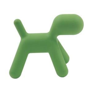 Zelená stolička Magis Puppy, dĺžka 70 cm