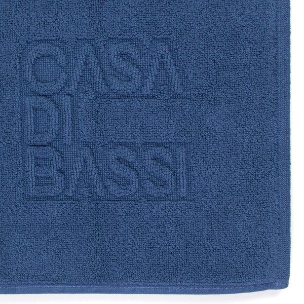 Modrá bavlnená kúpeľňová predložka CasaDiBassi Basic,50x70cm
