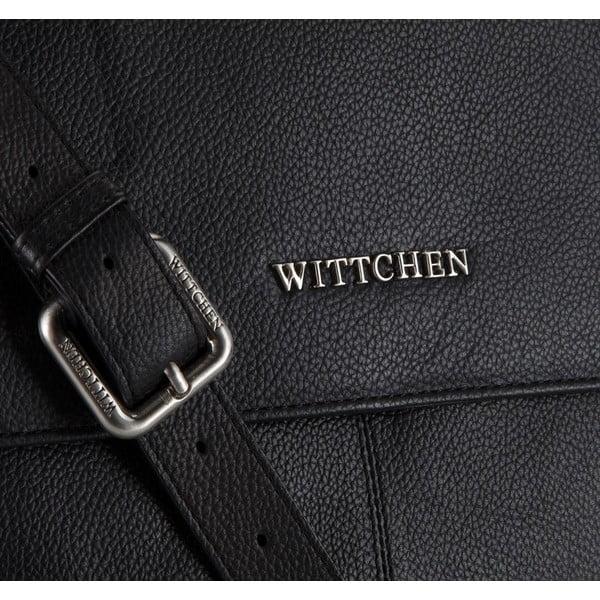 Kožená kabelka Elegance Message Black