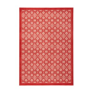 Červený koberec Hanse Home Gloria Tile, 80 x 200 cm