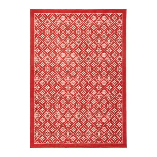 Červený koberec Hanse Home Gloria Tile, 200 x 290 cm