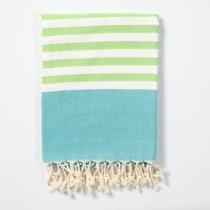 Hammam osuška z ručne tkanej bavlny ZFK Tonnes, 170 x 100 cm