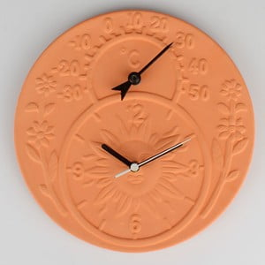 Keramické hodiny s teplomerom Dakls Slunce