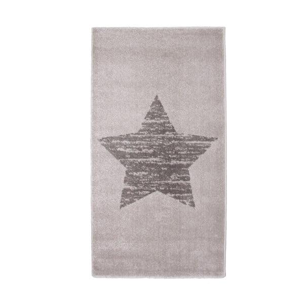 Detský sivý koberec Nattiot Lucero, 80×150cm