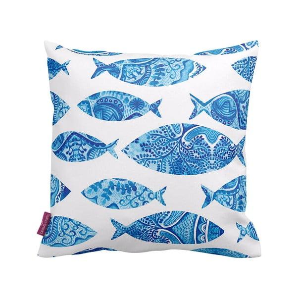 Vankúš Blue Fish, 43x43 cm
