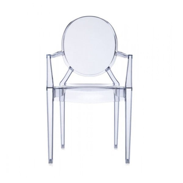 Plastová stolička Kartell Louis Ghost, svetlomodrá