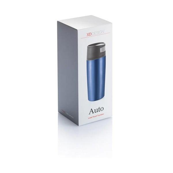 Modrý termohrnček do auta XD Design Leak, 400 ml