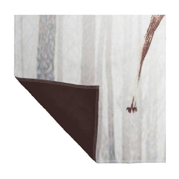Biela deka J-Line Deer, 130x160 cm