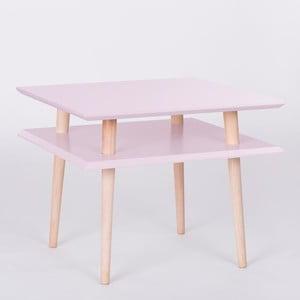Ružový konferenčný stolík Ragaba Square, 55x55cm