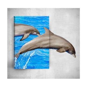 Nástenný 3D obraz Mosticx Dolphins, 40×60 cm