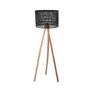 Čierna lampa z mangového dreva LABEL51 Stripe