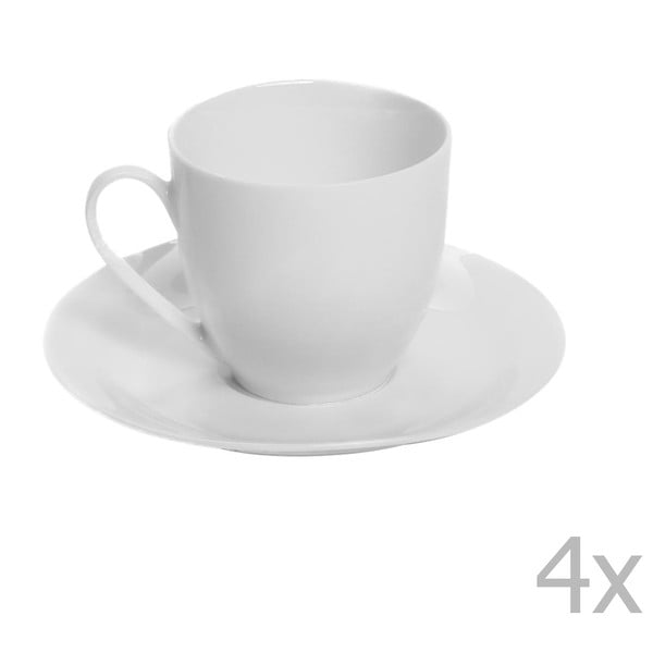 Sada 2 porcelánových šálok s tanierikmi Sola Lunasol, 200 ml