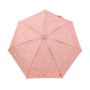 Koralovočervený skladací dáždnik Mr. Wonderful Rayo
