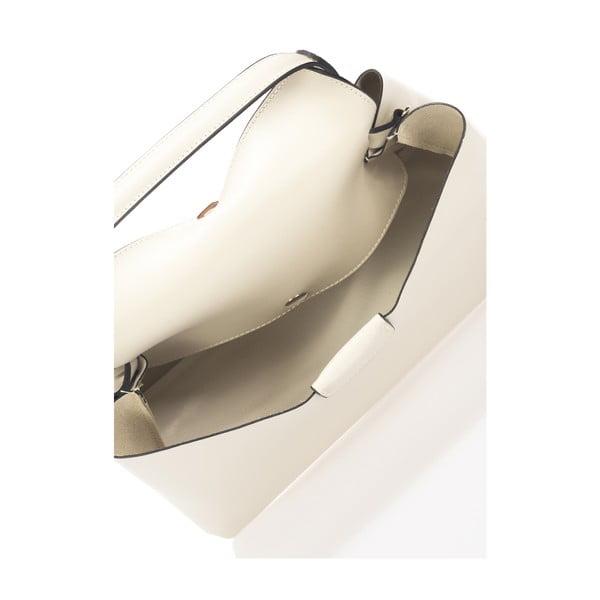 Kožená kabelka Lawler, béžová