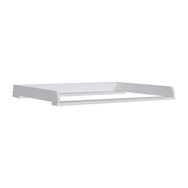 Biely snímateľný prebaľovací pult zmasívneho borovicového drevaPinioMini