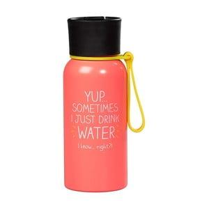 Ružová fľaša na vodu Happy Jackson Water, 600 ml