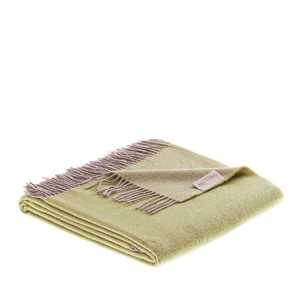 Vlnená prikrývka Rialto 130x180 cm, zelená