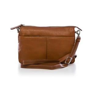 Hnedá kožená kabelka Gianni Conti Lenora