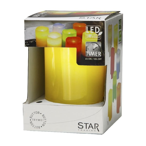 LED sviečka Real Yellow, 12 cm