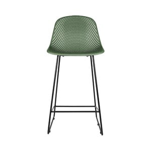 Tmavozlená barová stolička Leitmotiv Diamond Mesh