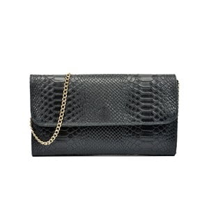 Čierna kožená kabelka Isabella Rhea Carol
