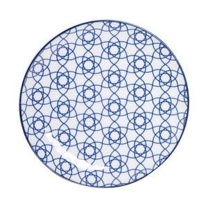 Modrý porcelánový tanier Tokyo Design Studio Stripe